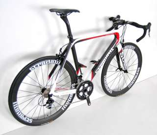 STRADALLI SRAM RED BLACK CARBON ROAD BIKE BICYCLE 50 cm