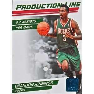 Production Line Press Proof #57 Brandon Jennings /100