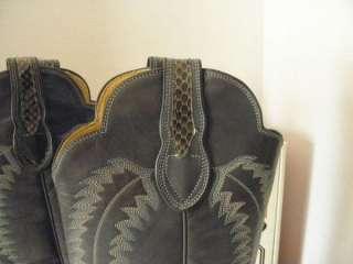 Vintage Tall Justin Snakeskin Ladies Cowboy Boots 5 1/2