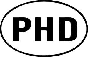 PHD Logo Decal Sticker