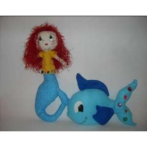 Sewing Pattern Mermaid Rag Doll and her Pet Fish Arts