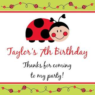 SWEET LADYBUG Birthday Party Favors Favor Tags RED