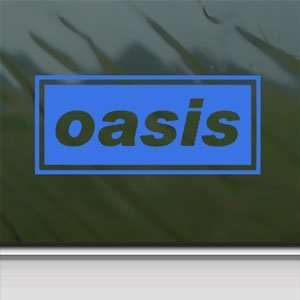 Oasis Blue Decal English Rock Band Truck Window Blue