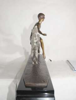 Art Deco Borzoi Dog Figurine Bronze Lormier