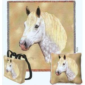 Percheron Horse Woven Tote Bag Home & Kitchen