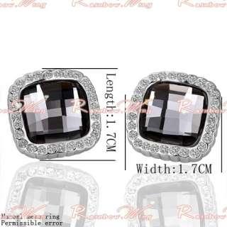 Best Gift 18K Gold Big Nice Swarovski Crystal GP Earrings Set 004
