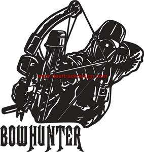 Bow Hunter Full Draw Hunting Truck ATV Sticker/Decal