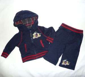 Mickey Mouse Disney Baby Boy Sweatsuit Hooded Jacket Pants Set Outfit