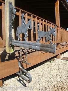HANDMADE CAST IRON RANCH CATTLE DRIVE, HORSE STEER BRANDING IRON FOLK
