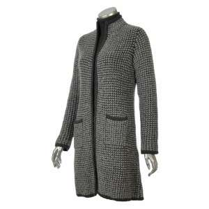 Sutton Studio Womens Wool Long Sweater Coat Topper
