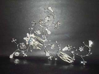 Bridal Rhinestone Crystal Wedding Headpiece Hair tiara Comb RB201