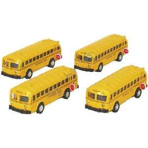 Toy Flat Nose School Bus with Working Stop Sign