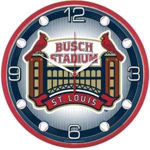 Wincraft St. Louis Cardinals Busch Stadium Round Clock