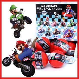 Super Mario Bros Mini Kart Pull back Figure Random Ball