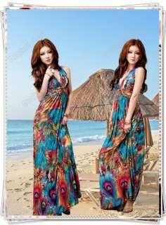 Women Sexy Summer Long Maxi Dress Beach Cocktail Evening Dress Skirt