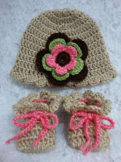 Crochet Beanie Hat and booties for Reborn Dolls/ newborn baby