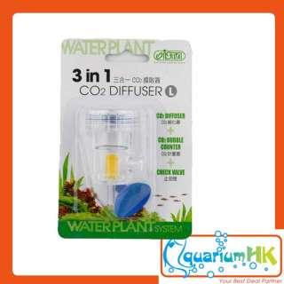 ISTA Aquarium 3 in 1 Co2 Diffuser Bubble Counter Check Valve (S) I563