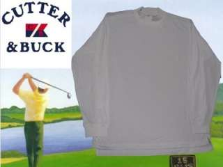 Cutter and Buck Mock Neck Shirt Dry Fit Lg 2XL White
