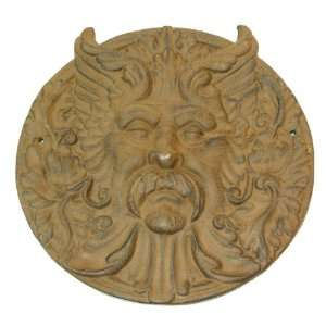 Cast Iron Round Man Face Rust Everything Else