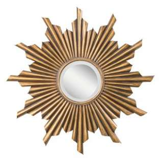 Kichler 78137 39 Round Wall Mirror with Sunburst Frame from the Burst