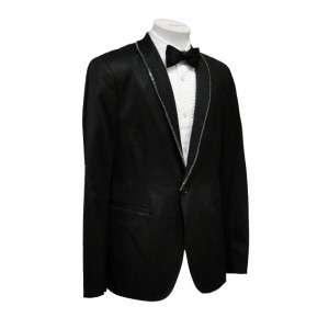 John Varvatos Mens Black Tuxedo Jacket 48 Italian 38R