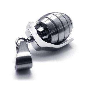 Mens Grenade Model Stainless Steel Necklace Pendant New