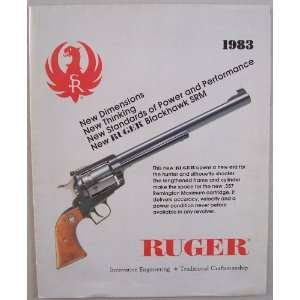 Ruger 1983 fold out [ Sturm, Ruger & Company, Inc. ] (front featuring