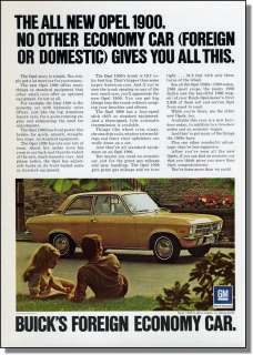 1971 Buick Opel 1900 Foreign Economy Car Photo Ad