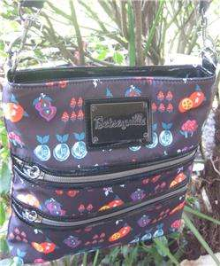 JOHNSON CHERRY BLACK CROSS BODY BAG NWT $68 PURSE FRUIT BV77050P