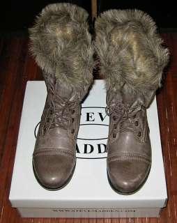 NIB FAUX FUR Steve Madden MINKEE Boots SIZES