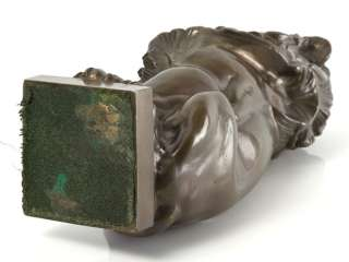 beautiful and impressive Art Nouveau c1910 heavy bronze statute of a