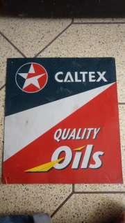 Vintage Enamel Singh Board :  CALTEX QULAITY OILS