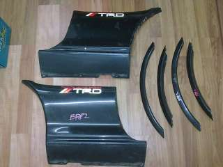 JDM TOYOTA Starlet EP82 GT Turbo TRD Body Side Skirt + Fender Skirt