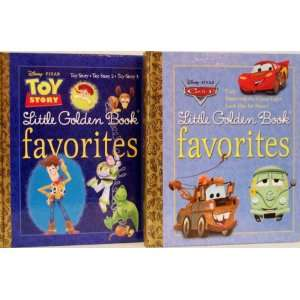 Toy Story Little Golden Book Favorites   2 Book Set (Disney/Pixar Cars