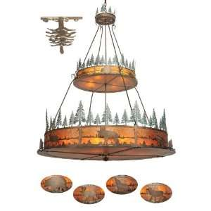 72W 2 Tier Pine Cone Fixture/Trees & Animals