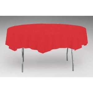 Classic Red 82 Plastic Table Cover