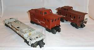 LIONEL POSTWAR O GAUGE 3 CAR FREIGHT CAR LOT