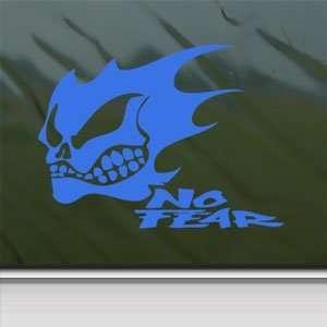 NO FEAR GHOST SKULL LOGO Blue Decal Truck Window Blue
