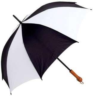 60 Golf Umbrella Large Black/White Sports Umbrellas Wholesale Lot