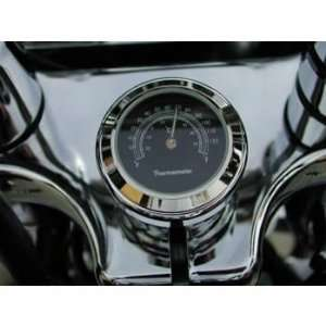 Nut Cover Thermometer for Harley Davidson Springers (White Clock Face