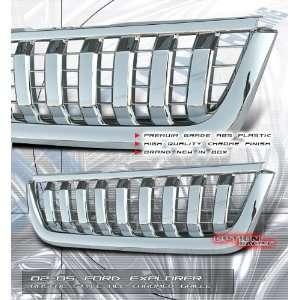 02 05 Ford Explorer Sport Grill   Chrome Rascal Style Automotive