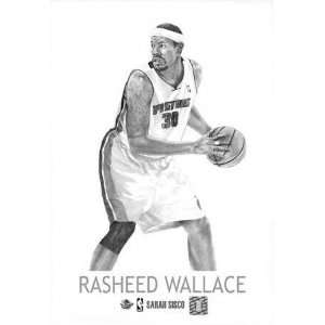 Rasheed Wallace Detroit Pistons 5x7 Unframed Print Sports