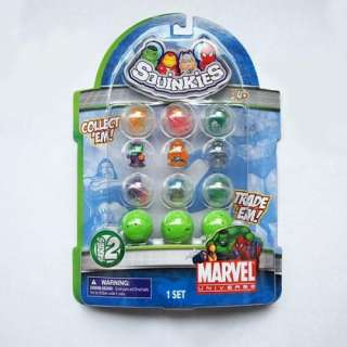 SQUINKIES Marvel Super Hero Spiderman Hulk Thor IRON MAN Figure S1 2
