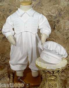 Boys Long Sleeve Christening Special Occasion Set wHat
