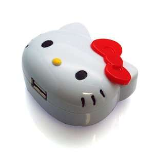 Sanrio Hello Kitty Face shaped USB AC Adaptor