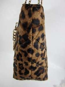 NWT MICHAEL KORS JET SET CHAIN ITEM Leopard Brown LARGE E/W NYLON TOTE