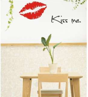 SEXY Kiss Me Lips Wall Vinyl Mural Art Decal Stickers