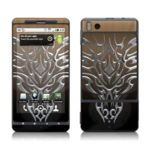 Dragon Chrome Skin Decal Sticker for Motorola Droid X Cell Phone