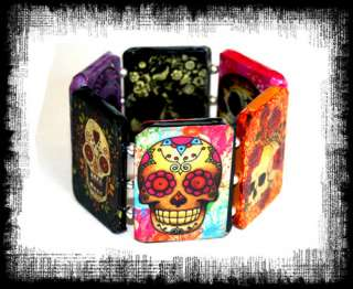 Dia de los Muertos Day of the Dead Bracelet Sugar Skull Tattoo