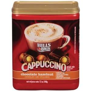 Hills Bros. Coffee, Chocolate Hazelnut Cappuccino, 12.0 Ounce